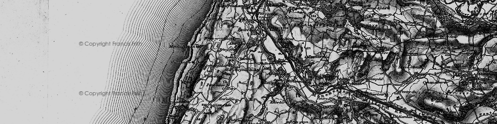 Old map of Aberbrwynen in 1899