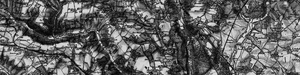 Old map of Whippendell Wood in 1896