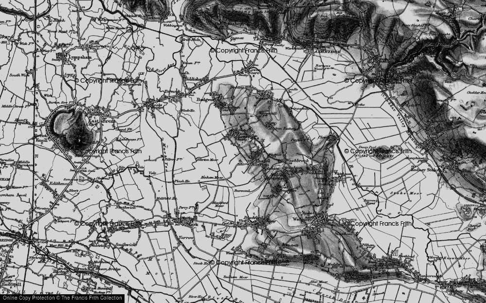 Old Map of Historic Map covering Allerton Moor in 1898