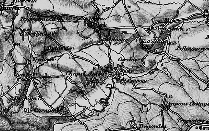 Old map of Chapel Amble in 1895