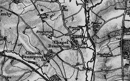 Old map of Chapel Brampton in 1898