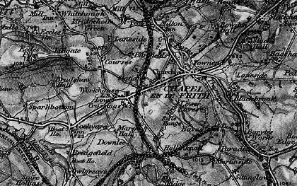 Old map of Chapel-en-le-Frith in 1896