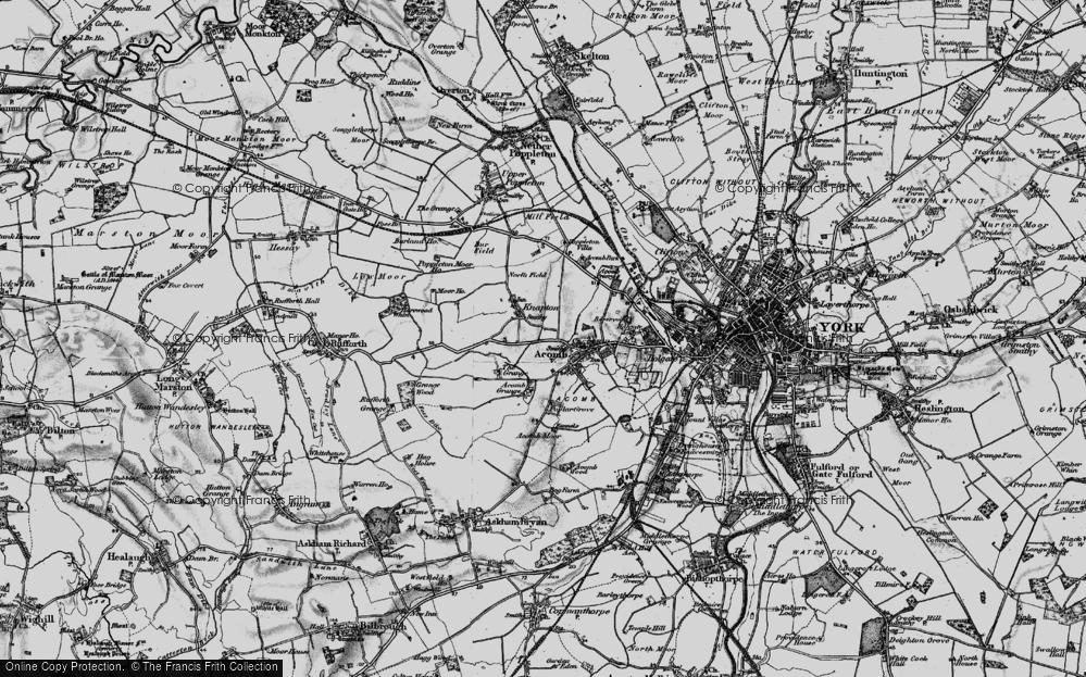 Old Map of Chapel Fields, 1898 in 1898