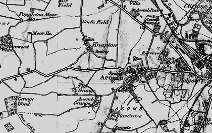 Old map of Chapel Fields in 1898
