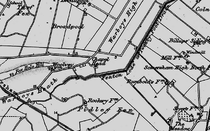 Old map of Tick Fen in 1898