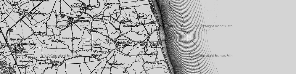 Old map of Chapel St Leonards in 1898