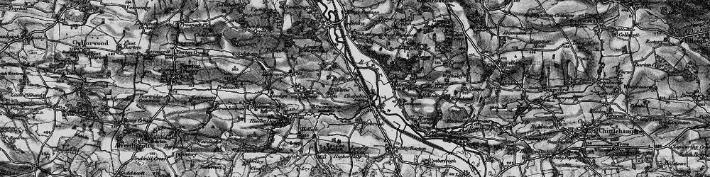 Old map of Westacott in 1898