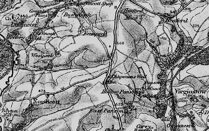 Old map of West Peeke in 1895