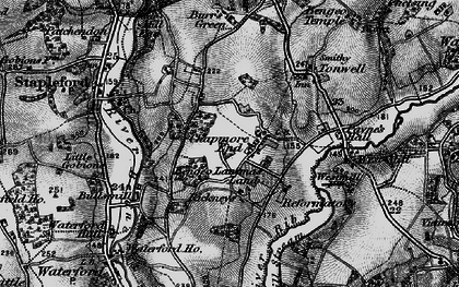 Old map of Chapmore End in 1896
