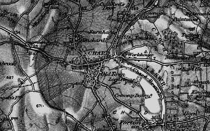 Old map of Chard in 1898