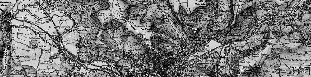 Old map of Charlcombe in 1898