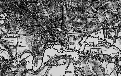 Old map of Westbrook in 1895