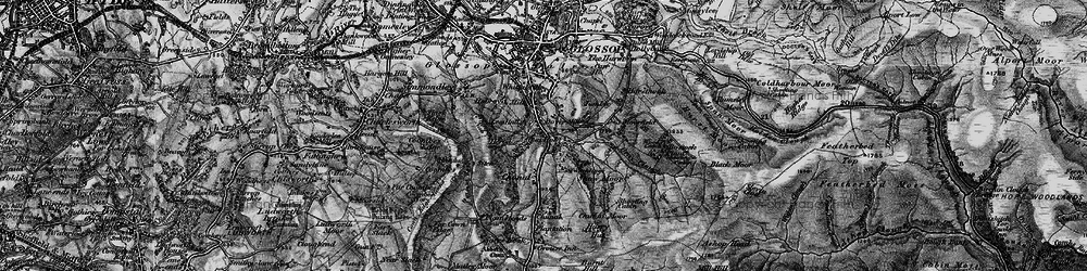 Old map of Whiteley Nab in 1896