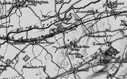 Old map of Lees, The in 1899