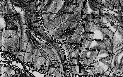 Old map of Wolfeton Clump in 1898