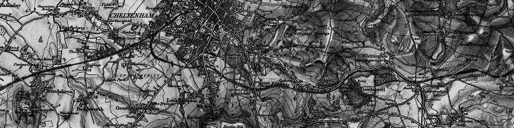 Old map of Charlton Kings in 1896