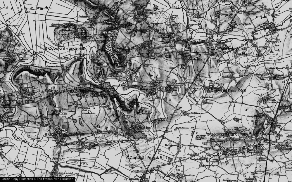 Old Map of Charlton Mackrell, 1898 in 1898