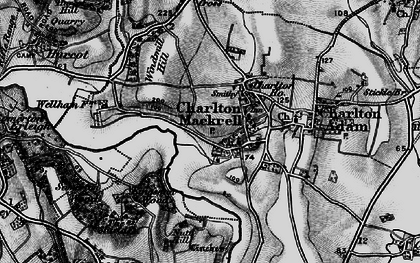Old map of Charlton Mackrell in 1898