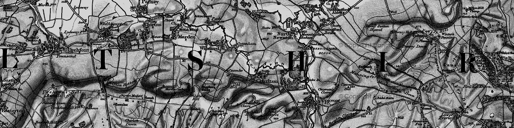 Old map of Wilsford Hill in 1898