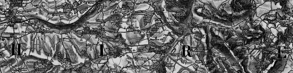 Old map of Winchester Wood in 1895