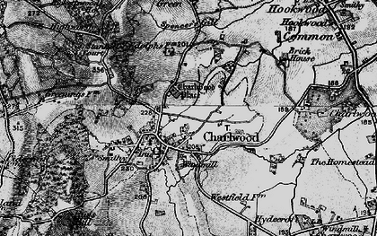 Old map of Charlwood in 1896