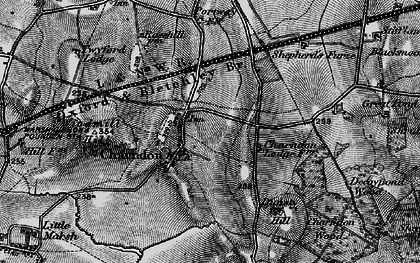 Old map of Charndon in 1896