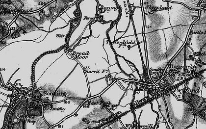 Old map of Charvil in 1895