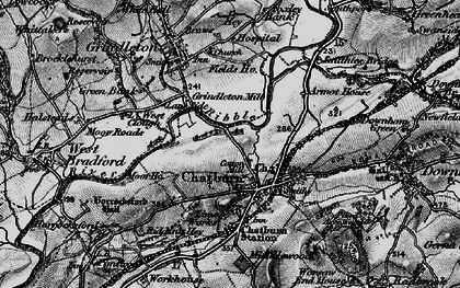 Old map of Chatburn in 1898