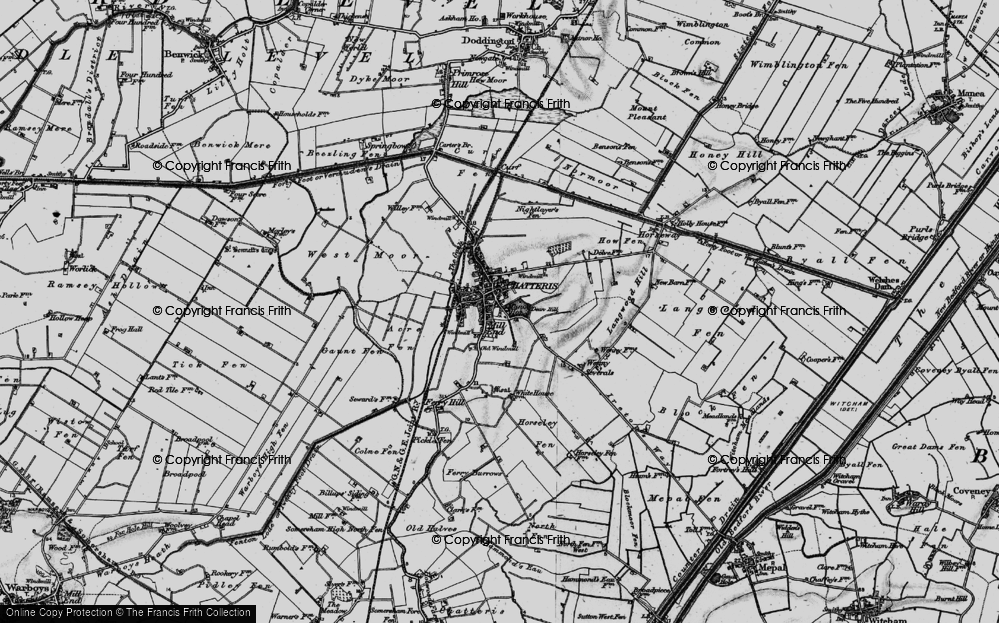 Old Map of Chatteris, 1898 in 1898
