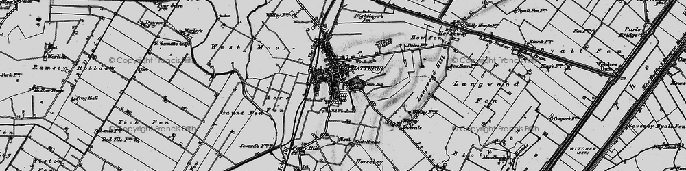 Old map of Chatteris in 1898