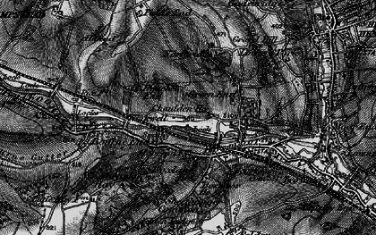 Old map of Chaulden in 1896