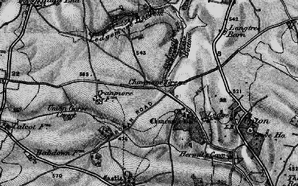 Old map of Ledgemore Bottom in 1897