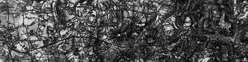 Old map of Whitmoor Bog in 1895