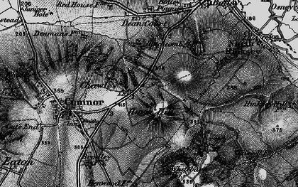 Old map of Whitebarn in 1895
