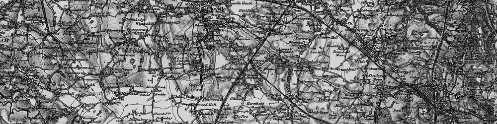 Old map of Cheadle Hulme in 1896