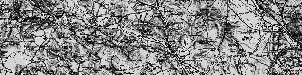 Old map of Chebsey in 1897