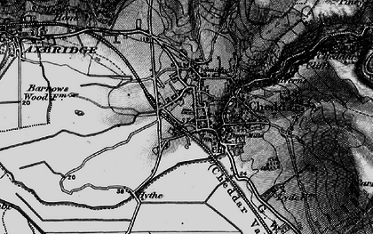 Old map of Cheddar in 1898