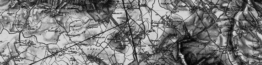 Old map of Westend Hill in 1896