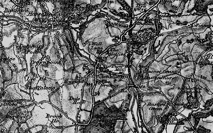 Old map of Ashcombe Park in 1897