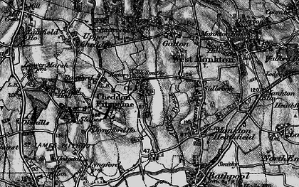 Old map of Allen's Brook in 1898