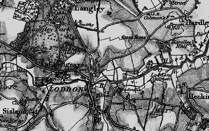 Old map of Chedgrave in 1898