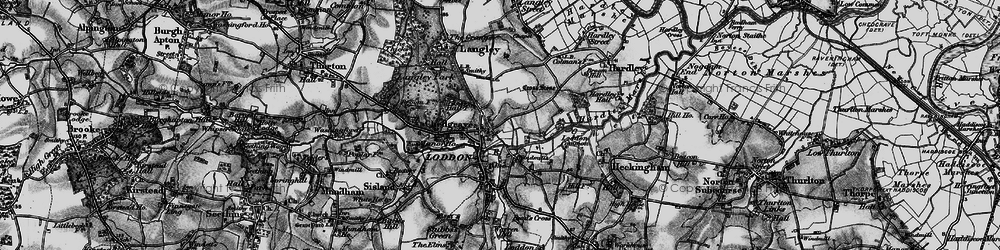 Old map of Langley School in 1898