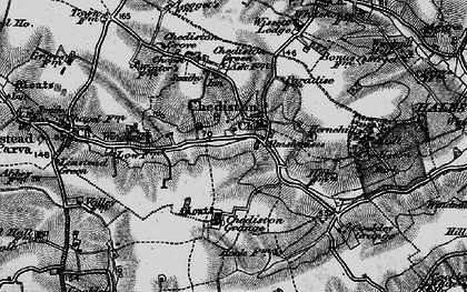 Old map of Linstead Parva in 1898