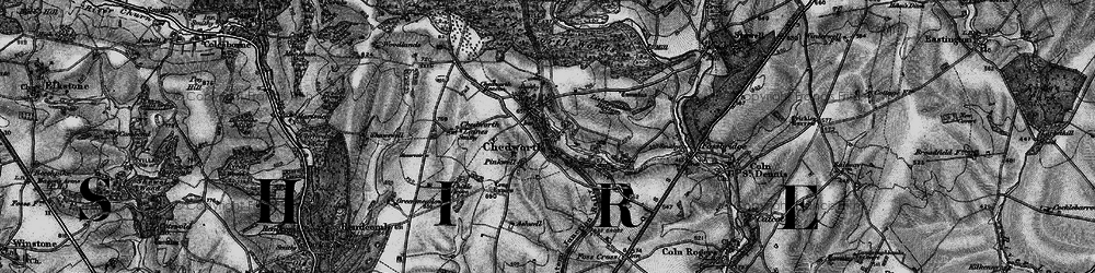 Old map of Chedworth in 1896