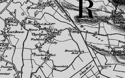 Old map of Chedzoy in 1898