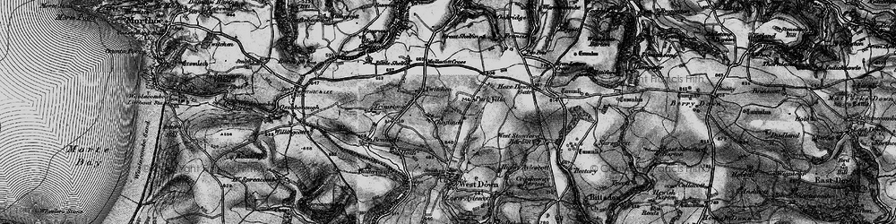Old map of Yellow Rayes in 1898