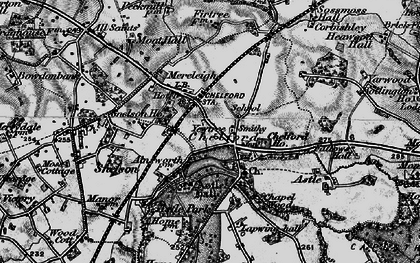 Old map of Astle Hall in 1896