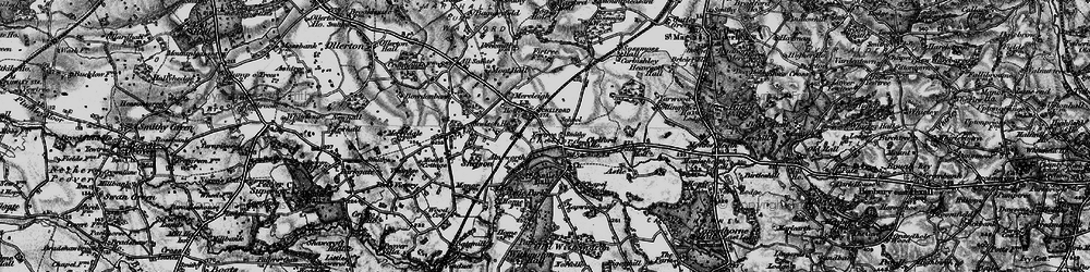 Old map of Chelford in 1896
