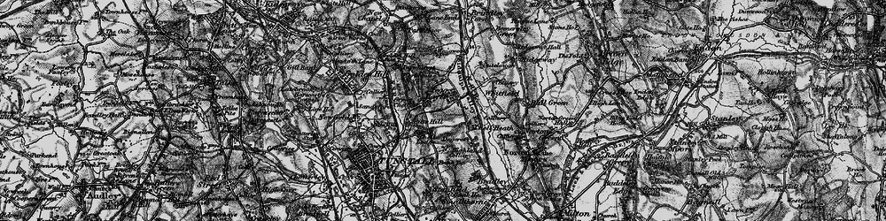 Old map of Whitfield in 1897