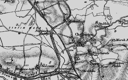 Old map of Chellaston in 1895